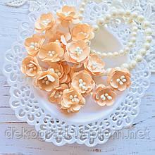 Цветы Вишни 25мм Персиковые с тычинками