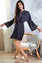 Женский шелковый халат с кантом и поясом (1353.4086 svt), фото 2