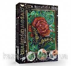 """Алмазная живопись """"Роза с бабочкой"""" мозаика по номерам размер 30*20см DankoToys"""