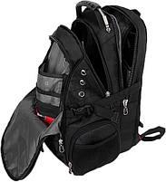 Городской Рюкзак SwissGear с отделением для ноутбука 35 л Черный + чехол от дождя (8810), фото 2