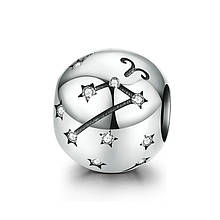 "Шарм ""Знак зодиака Овен"" серебро 925 проба, кубический цирконий"