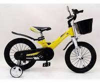 """Детский двухколесный велосипед 1450D-HAMMER желтый. Магниевая рама (Magnesium) 14"""""""