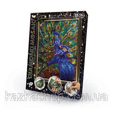 """Алмазная живопись """"Павлины"""" мозаика по номерам размер 30*20см DankoToys"""