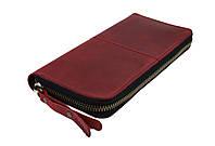 Кошелек женский кожаный клатч большой travel SULLIVAN  kgb85-2(19.5) марсала