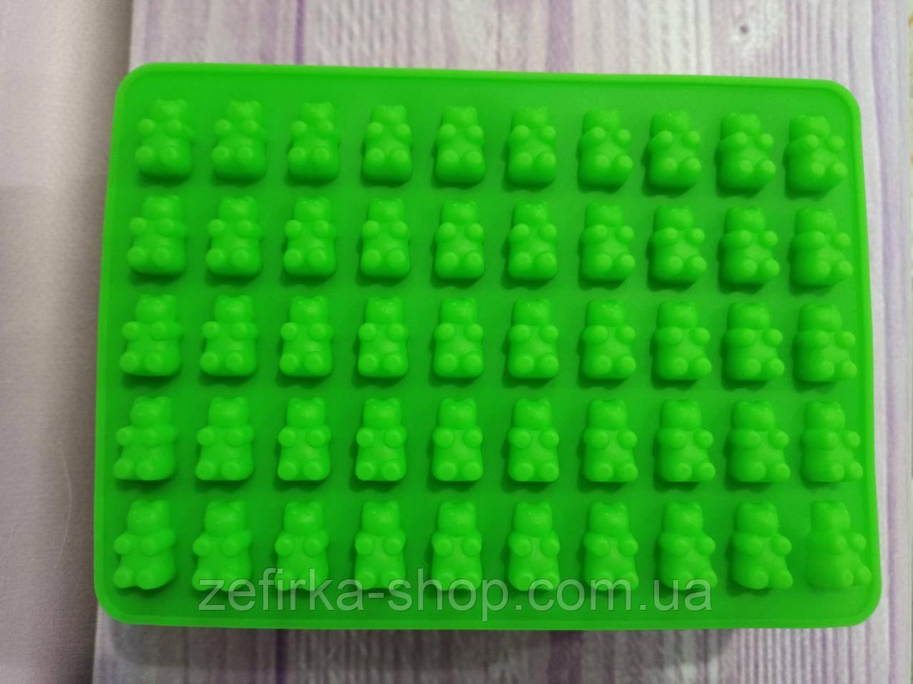 Силиконовая форма для желейных, мармеладных, шоколадных конфет Мишки