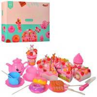 Продукты торт/сладости YH-03C разрезные, на липучке, торт, сладости, свечи, украшения, посуда, с акс