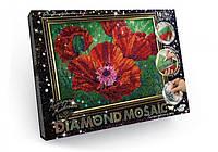 """Алмазная живопись """"Маки"""" мозаика по номерам размер 30*20см DankoToys"""