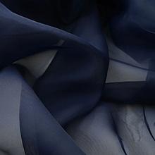 Шифон (вуаль) для штор трехметровый темно-синий