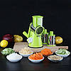Овощерезка мультислайсер Tabletop Drum Grater Kitchen Master Терка для овощей и фруктов 3 насадки, фото 3