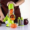 Овощерезка мультислайсер Tabletop Drum Grater Kitchen Master Терка для овощей и фруктов 3 насадки, фото 7