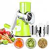 Овощерезка мультислайсер Tabletop Drum Grater Kitchen Master Терка для овощей и фруктов 3 насадки, фото 9