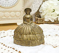 Коллекционный бронзовый колокольчик, Кринолиновая леди, бронза, Англия, фото 1