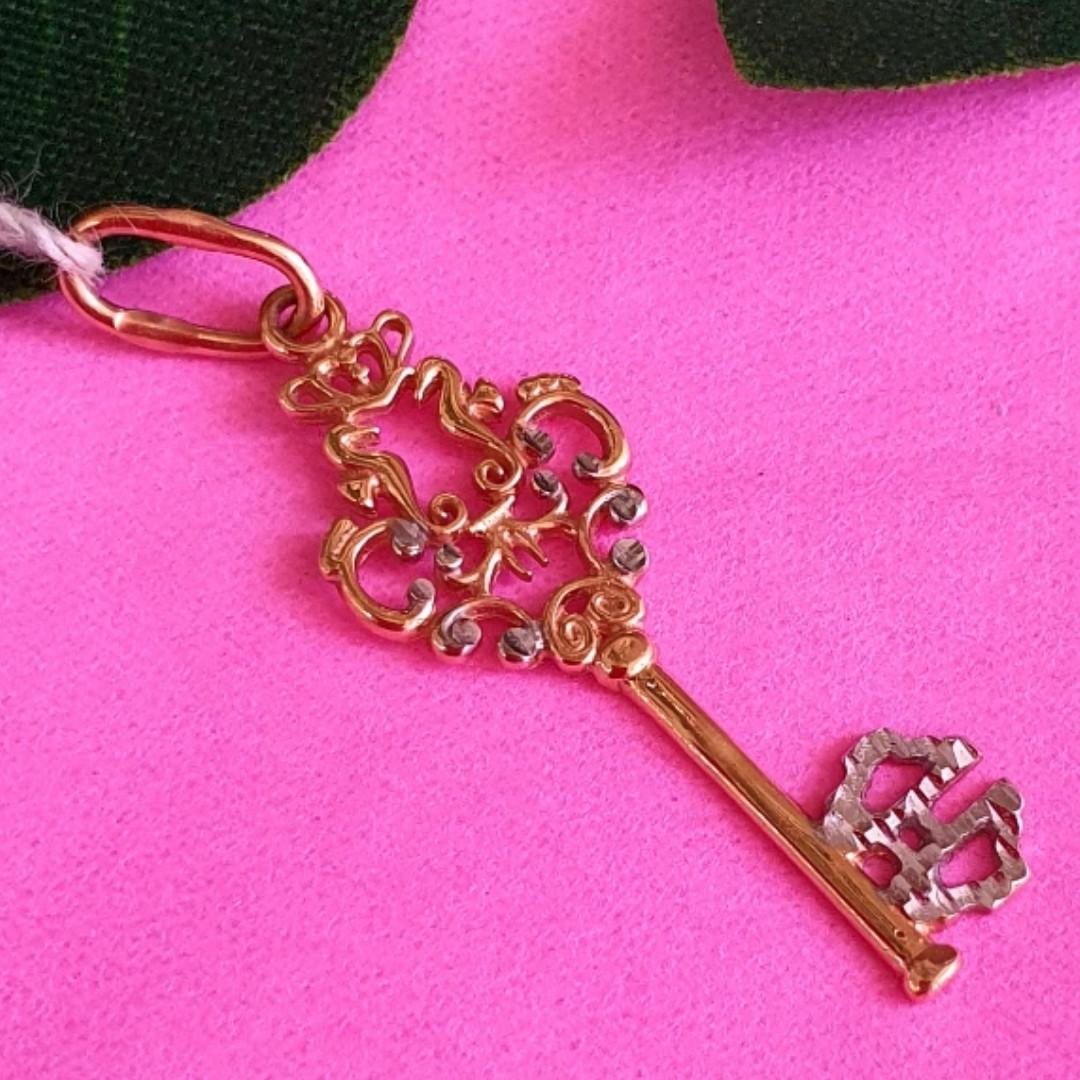 Золотой ключик кулон - Подвеска Ключ из золота