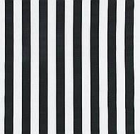 Декоративная ткань Полоса широкая черно-белая