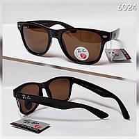 Солнцезащитные очки Ray ban Wayfarer коричневые с поляризацией (RB2140)
