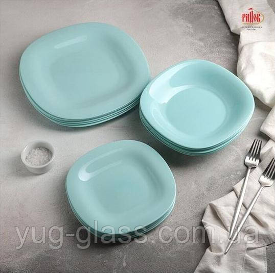 Голубой столовый сервиз