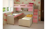 Кровать-чердак для двух детей КЧД 136