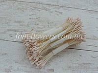 Тычинки матовые кремовые на нитке