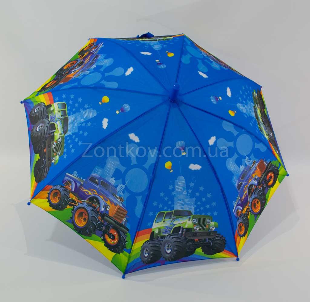 """Зонт-трость для мальчика """"Big cars"""" на 5-9 лет от фирмы Марио"""