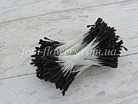 Тичинки матові чорні на білій нитці, фото 1