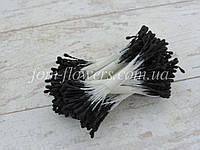 Тычинки матовые черные на белой нитке