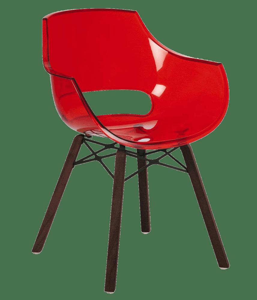 Кресло Papatya Opal Wox Iroko прозрачно-красное