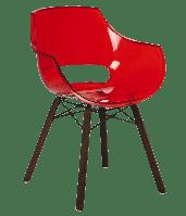 Кресло Papatya Opal Wox Iroko прозрачно-красное, фото 1