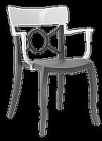 Кресло Papatya Opera-K сиденье антрацит, верх белый, фото 1