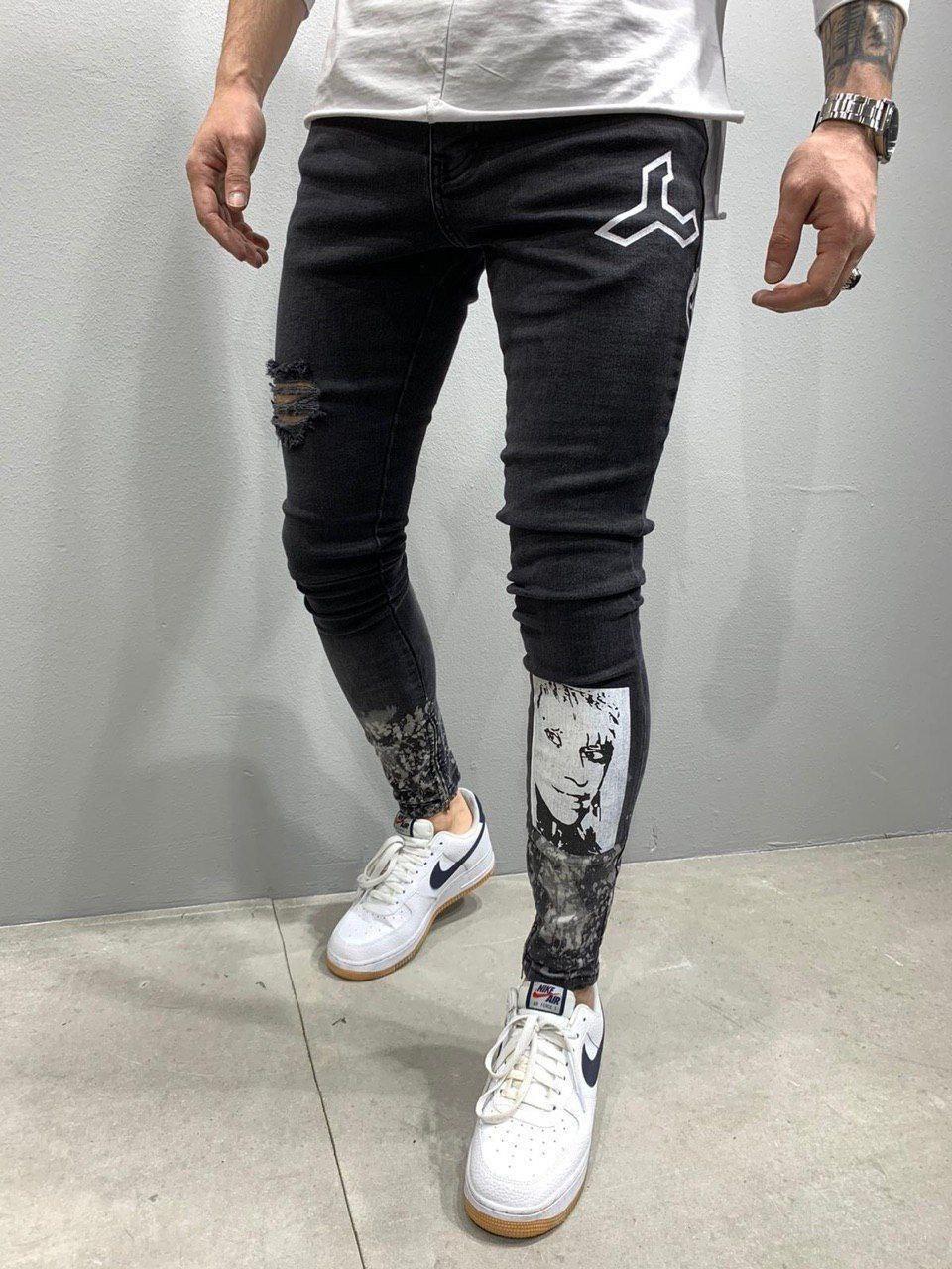 Мужские джинсы M247 черные
