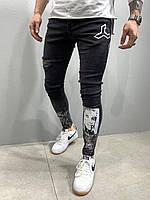 Мужские джинсы M247 черные, фото 1