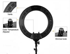 Профессиональная кольцевая лампа для фото и видео съёмки 45 см. диаметр LED Soft Ring Light HQ-18, фото 3
