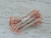 Тычинки матовые персиковые на нитке, фото 1