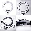 Профессиональная кольцевая лампа 45 см. диаметр LED Soft Ring Light HQ-18 с+штатив (200см), фото 4