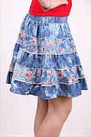 Джинсовая, женская, молодёжная юбка. 40-44 р, фото 1