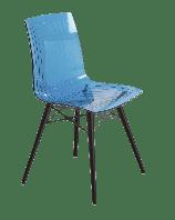 Стул Papatya X-Treme S Wox прозрачно-голубой, ножки бук венге лак, фото 1