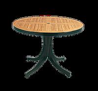 Стол круглый Papatya Дива плюс 105 зеленый под дерево
