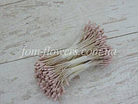 Тичинки матові рожево-бузкові на нитці, фото 1