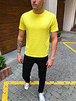Футболка мужская Bassic yellow летняя / ТОП качества, фото 1