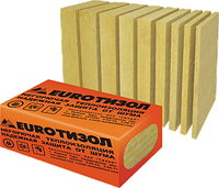 Теплоизоляция EUROТИЗОЛ EURO-Фасад Оптима, 120кг/м3, 1000х600х100мм, (0,18м3)