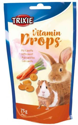 Витамины для грызунов Drops каротин 75г, trixie