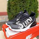 Чоловічі кросівки Nike Air Max 270 Supreme (чорно-білі) 10057, фото 5