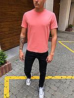 Футболка мужская Bassic pink летняя / ТОП качества, фото 1