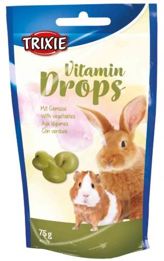 Витамины для грызунов Drops овощи 75г, trixie