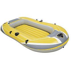Одноместная надувная лодка Bestway, Hydro-Force Raft, желтая,228х121х36 cм