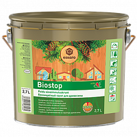 Биозащитная грунтовка для древесины Eskaro Biostop (Эскаро Биостоп) 2,7 л