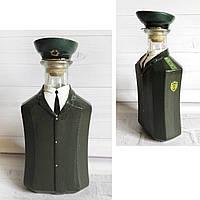 Стилизованная бутылка - офицер погранвойск СССР Подарок пограничнику на 28 мая, фото 1
