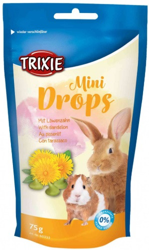 Витамины для грызунов Mini Drops одуванчик 75г, trixie