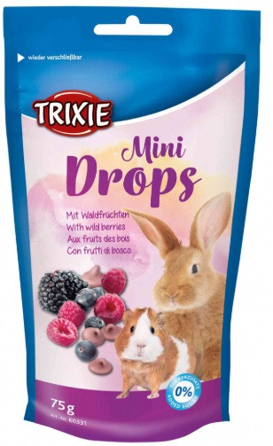 Витамины для грызунов Mini Drops ягоды 75г, trixie