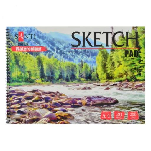 "Альбом для эскизов SANTI А4 ""Paper Watercolour Collection"", 20 л."