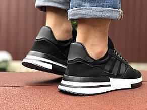 Мужские кроссовки Adidas ZX 500 Rm,черно белые 45р, фото 3